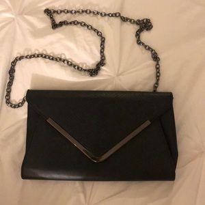 Black ALDO leather clutch purse